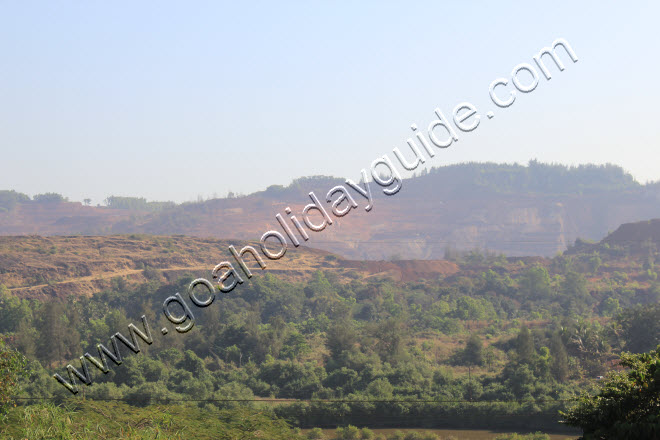 View of the mines in Shirgao seen from the Corjuem Fort